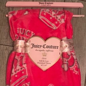 Juicy couture soft + cozy oversized blanket